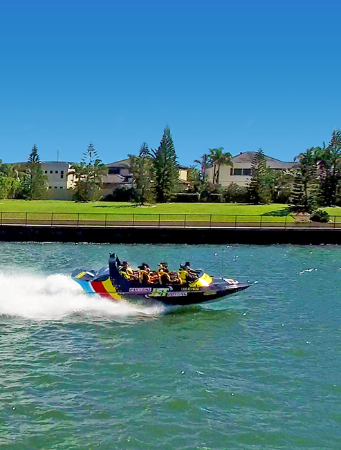 Jet Boating at Sovereign island