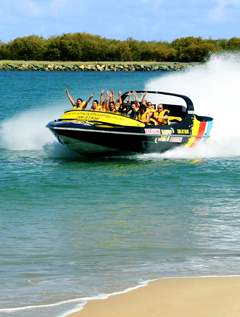 Customers on Jet Boat having fun