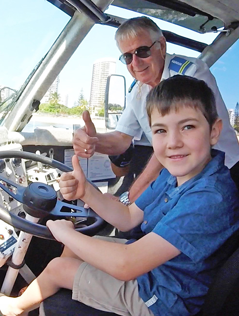 Kids Driving the Aquaduck